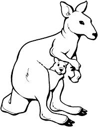 Kangourou 66 Animaux Coloriages Imprimer