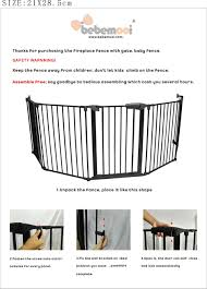 fire gate baby fence