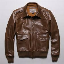 2019 brown usa genuine leather jackets air force a2 flight er jackets lapel neck leather jacket from qltrade 3 324 88 dhgate com