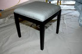custom made upholstered vanity stool