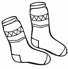 Small Picture Socks Winter Clothes Coloring Page Preschool Coloring Pages