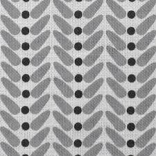 Hilda Black, Grey patterned Linen, Oeko-Tex fabric