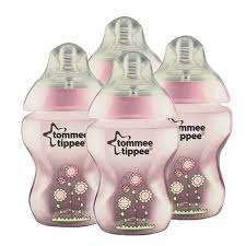 Tommee Tippee Pink Decorated Bottles Tippee Closer To Nature Decorated Bottle Starter Kit Pink 100100 65