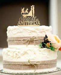 Two Groom Wedding Cake Topper With 2 Cats And Silhouette Tattooed