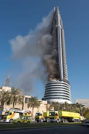 Dubai Before And After Huge Skyscaper Fire In Dubai Near New Years Eve Fireworks Display