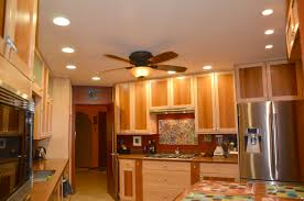 recessed lighting ideas for kitchen. Recessed Kitchen Lighting Ideas. Contemporary Modern Electric Ceiling Fan Wooden Brown Cabinet Ideas For I