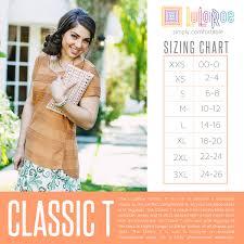 Classic Tee Lularoe Size Chart Size Chart Classic T Size Chart Lularoe Classic Tee