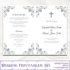 Wedding Ceremony Brochure Free Wedding Mass Booklet Template Printable Programs