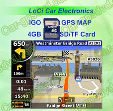 4GB SD card with car IGO GPS Navigation map(download on line ...