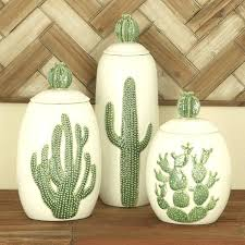 decorative jars urban designs farm cactus ceramic decorative jars set of 3 decorative glass jars for decorative jars