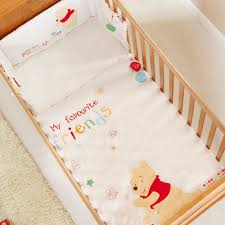 obaby disney winnie the pooh cot cot bed quilt per set white