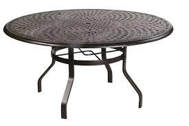 waverly 60 round inlaid lazy susan cast aluminum table