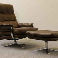 wonderful retro leather armchair for retro buffalo leather armchair and footstool arne norell for