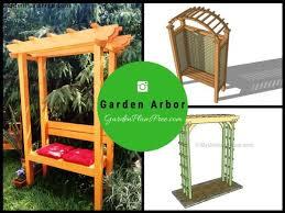 8 free arbor plans free garden plans