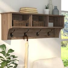Diy Wall Mounted Coat Rack With Shelf Fascinating Wall Coat Rack With Shelf Racks Wooden Standing Brown Color Many