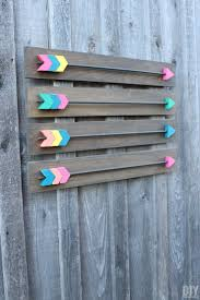 colorful wood arrows diy wall art décor
