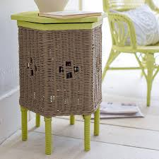 painted wicker table and chair