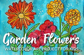 how to draw paint garden flowers
