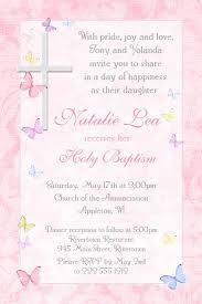 Catholic Baptism Invitations Cross Butterflies Baptism Invitation Catholic Baby Shower