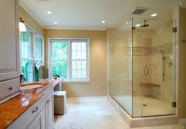 traditional shower designs. Traditional Shower Designs Bathroom With Beige Vanity Windows