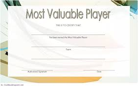 Soccer Mvp Certificate Template 1 Paddle At The Point