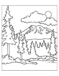 Preschool Forest Coloring Page Forest Color