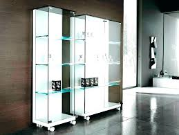 bookcase with glass doors ikea white billy