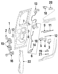 parts com® ford latch assy upper w cable right partnumber 2002 ford f 150 xl v8 4 6 liter gas lock hardware