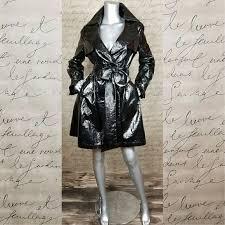 ryu faux patent leather trench coat m 5aa5eb91077b97e9d0201cab