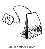 pink tea bag clip art. Delighful Clip Tea Bag With Label Hand Drawing Sketch Vector Illustration In Pink Bag Clip Art
