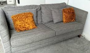 ikea fabric sofa bed 3 seater grey