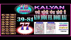 Kalyan 25 10 2017 Lucky Number Sattamatka Kalyan Fix