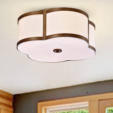 Clover Ceiling Light Necan Antique Brass 4 Light Flush Mounted Clover Ceiling