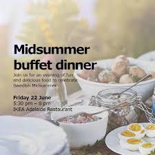 Ikea Adelaide Midsummer Buffet 22 Jun 2018 Whats On For