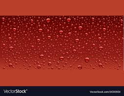 Water Droplets Background Panorama Dark Red Water Droplets Background Vector Image