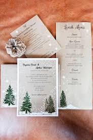 Rustic Winter Wedding Invitations Diy Rustic Winter Inspired Invitation Suite