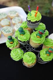 Easy Ninja Turtle Cupcakes Homemade Birthday Cake Diy Party Ideas