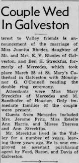 Ben Streckfus and Juanita Rhodes wedding announcement - Newspapers.com