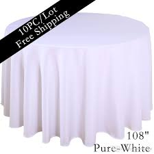 home table cloth 108 round polyester plain tablecloth white black colored hotel table cloth of wedding xmas party vintage home decor purple
