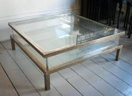 coffee end tables mirrored table modern glass large square and gold