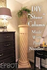 Decorative Interior Columns Epbot Make Your Own Stone Decorative Column With Pool Noodles