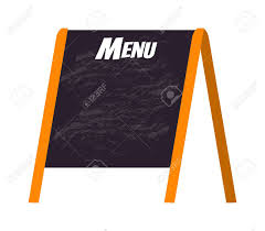 Chalkboard Menu Board Wooden Menu Board Isolated On White And Store Black Board Menu