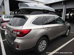 2015 subaru outback interior cargo. 2015 outback with aftermarket thule rooftop cargo box carrier attached to factory crossbars subaru interior