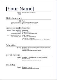Word Formatted Resume Simple Clean Resume Template Word Format My Chelsea Club