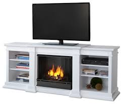 fresno white entertainment unit and gel fuel fireplace indoor fireplaces