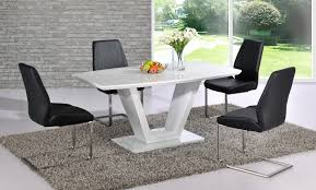 impressive white gloss dining table and chairs white gloss kitchen table sets best kitchen ideas 20