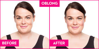 blush before and after. oblong blush before and after