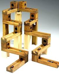 wooden marble maze toy designs run toys pieces classic ramps track building home improvement lagoon wooden marble run toy