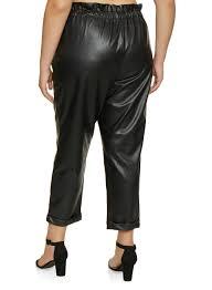 Almost Famous Jeans Size Chart Plus Size Faux Leather Paper Bag Waist Pants