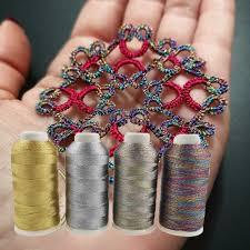 <b>Sanbest 3 6 9</b> Strands Metallic Weaving Thread 3 pcs/set Shiny ...